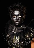 foto of azazel  - Woman with harpy makeup  - JPG