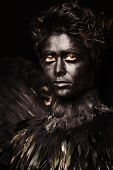pic of azazel  - Woman with harpy makeup  - JPG