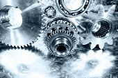 stock photo of ball bearing  - aerospace cogwheels - JPG