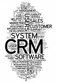 image of customer relationship management  - Word Cloud with CRM  - JPG