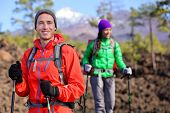 foto of canary  - Hiking hikers couple  - JPG
