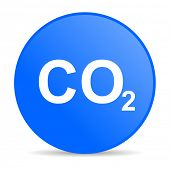 foto of carbon-dioxide  - carbon dioxide internet blue icon - JPG