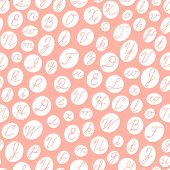 image of cursive  - Seamless pattern with English cursive letters - JPG