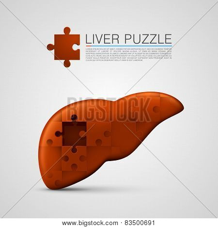 liver puzzle sign medical