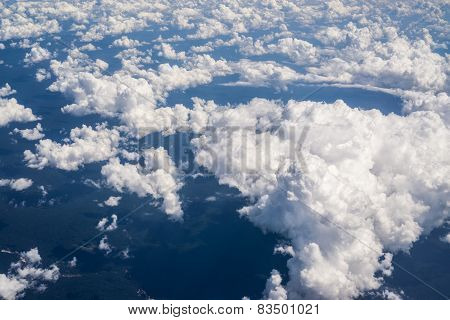 Clouds over amazon forest