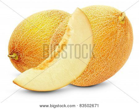 Tasty Melons Isolated On The White Background