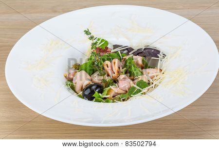 Rucola With Squid Salad