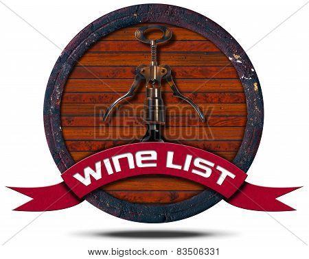 Wine List - Wooden Icon