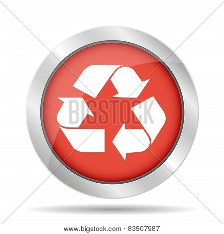 Recycle Sign In red Color