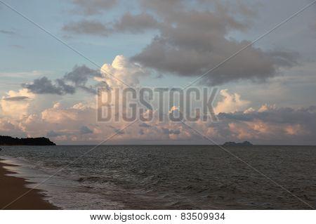 Sunset On The Island Of Koh Samui