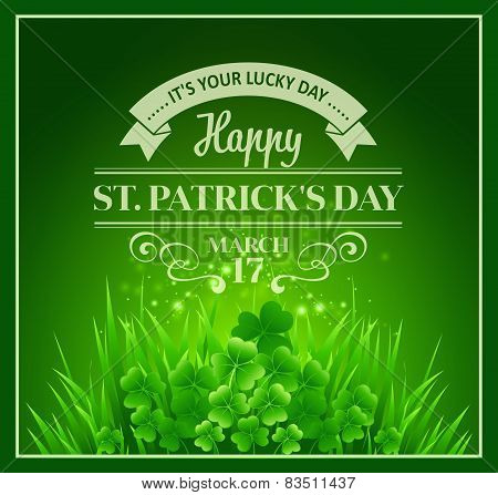 St. Patricks Day Background. Vector illustration