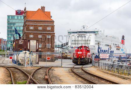 Railway in Kiel Seaport