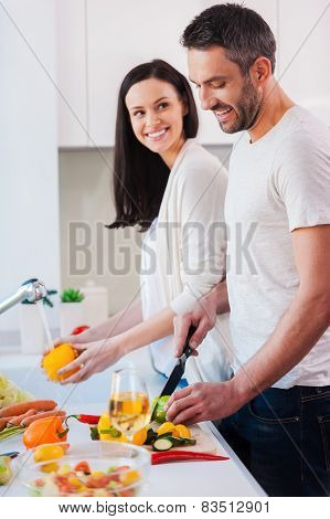 Cooking Together Is Fun.