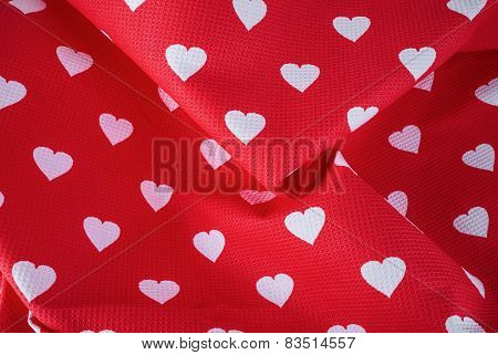 Hearts On Fabric