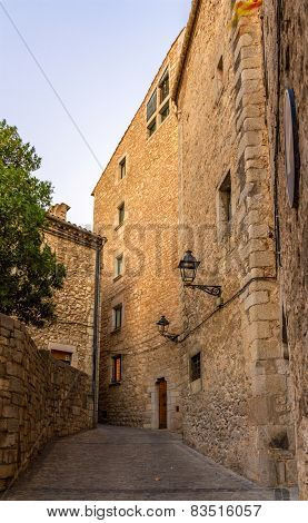 Narrow Street On The Way To The Cathedral Of Saint Mary Of Girona