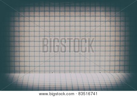 Vintage Lined Paper Background With Floor