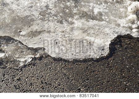 Ice Melting On Road