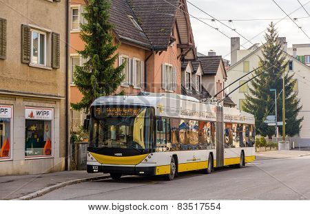 Trolleybus in Schaffhausen - Switzerland