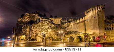 Defensive Walls Of Avignon, A Unesco Heritage Site In France
