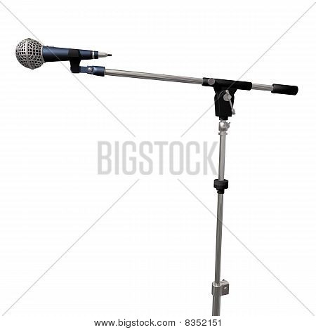 Microfone em um branco
