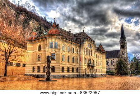 Government Building In Vaduz - Liechtenstein