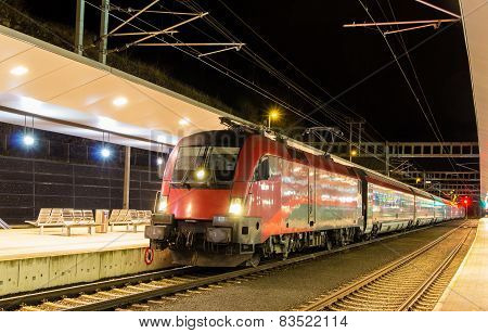 Austrian High-speed Train At Feldkirch Station