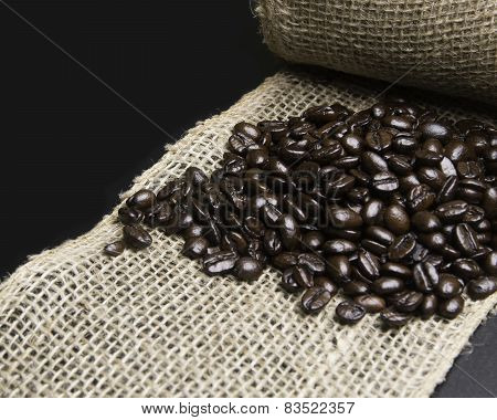 Coffee and burlap