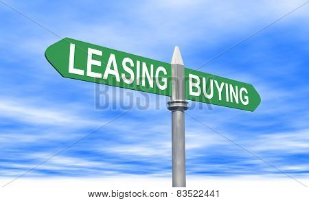 Leasing Or Buying Sign