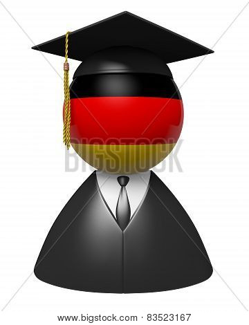 Germany college graduate concept for schools and academic education