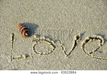 Love Word On The Beach.