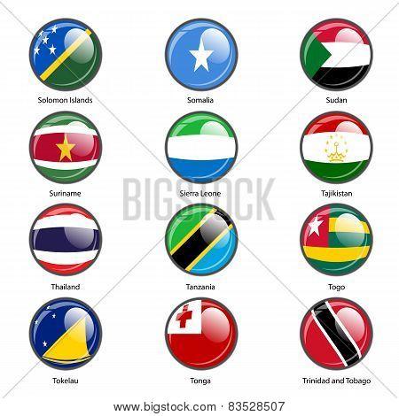 Set circle icon  Flags