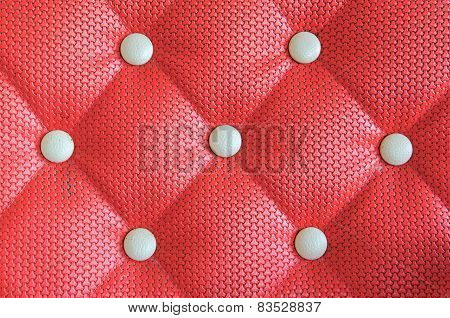 Red Sofa Upholstery Leather Pattern Background