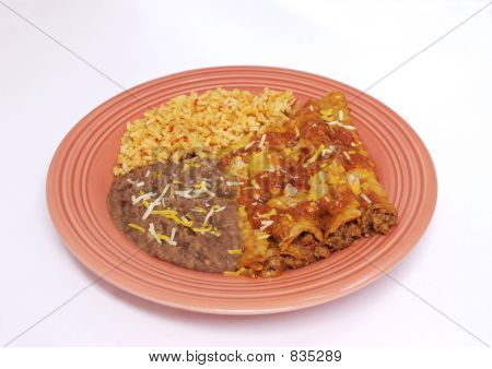 Enchilada dinner - Mexican food