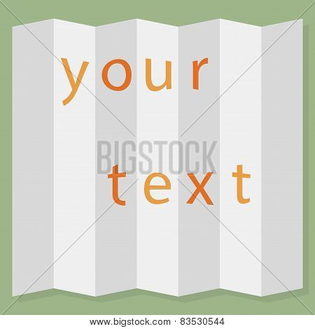 Sheet of  paper folded. Vector illustration.