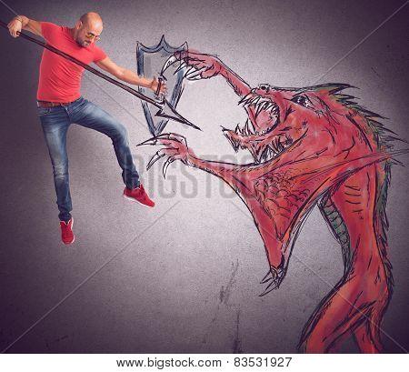 Man versus evil