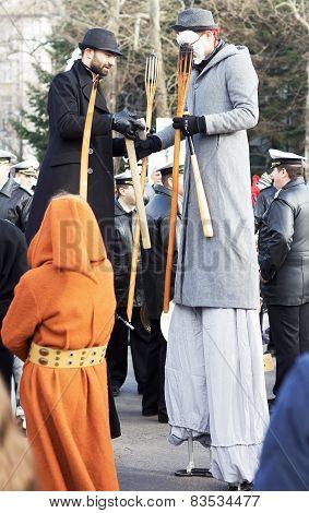 Festive carnival in Varna, Bulgaria.