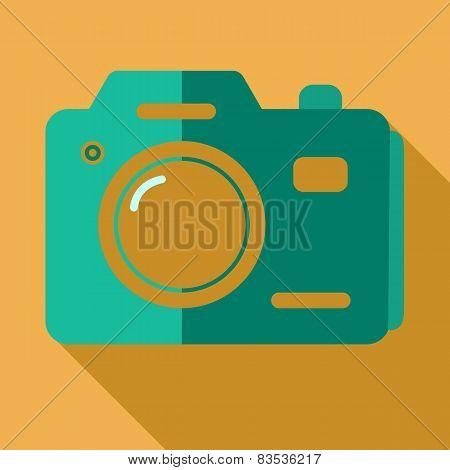 Modern flat design concept icon photo camera. Vector illustratio