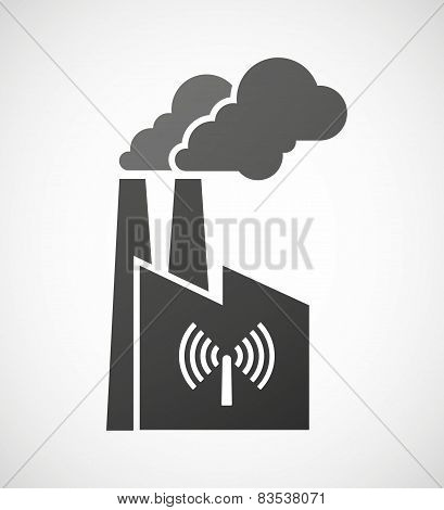 Factory Icon With An Antenna