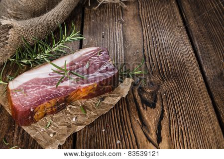 Big Slice Of Smoked Ham