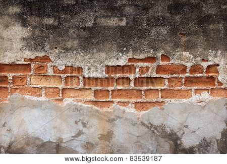 Molder Wall Brick Background