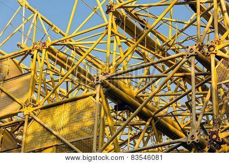 Disassembled Building Cranes