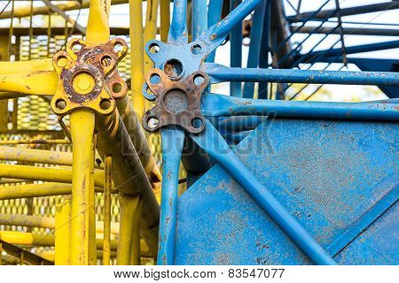 Disassembled Building Cranes Detail