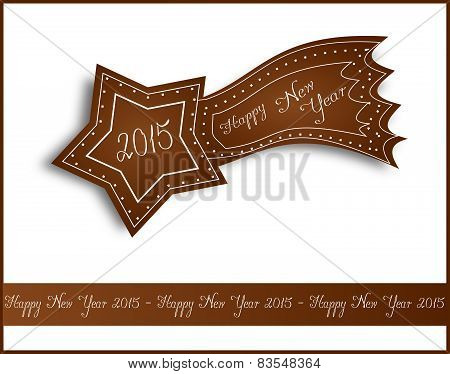 Happy New Year 2015 Gingerbread Comet