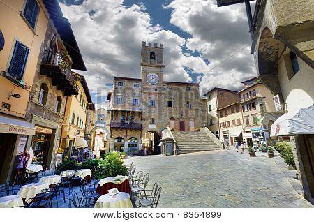 Plaza principal, Cortona, Toscana