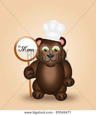 Dark Bear As Cook