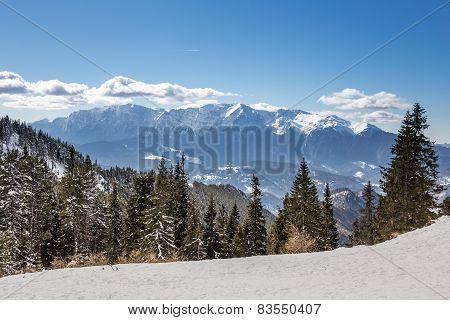 Winter scene in Poiana Brasov