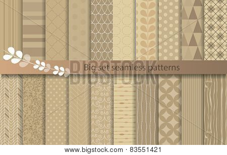 Big set seamless patterns, pattern swatches included for illustrator user