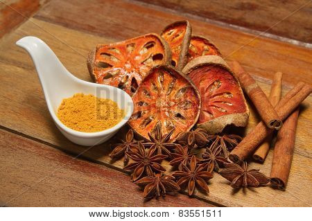 Spices Asian, Dry Herb And Food Ingredient