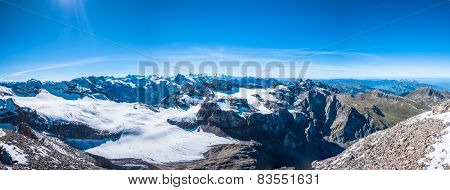 Panorama View Of Swiss Alps