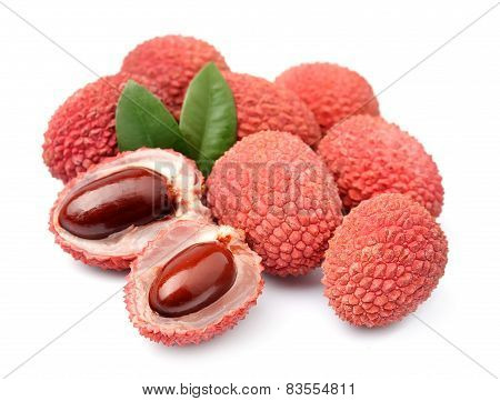 Sweet lychees fruits
